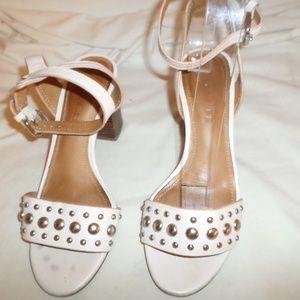 Coach Shoes - COACH PAIGE STUDDED BEIGE LEATHER SANDALS SZ 5.5